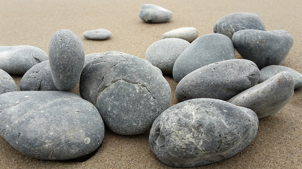 a pile of smooth stones