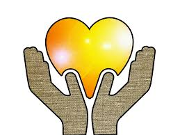 two hands holding a yellow heart