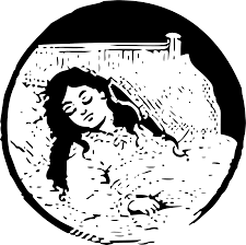 girl in bed sick